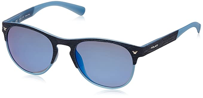 ce8ed0763b Police Polarized Wayfarer Unisex Sunglasses (S1949M53715BSG|53|Smoke with Blue  Mirror lens): Amazon.in: Clothing & Accessories