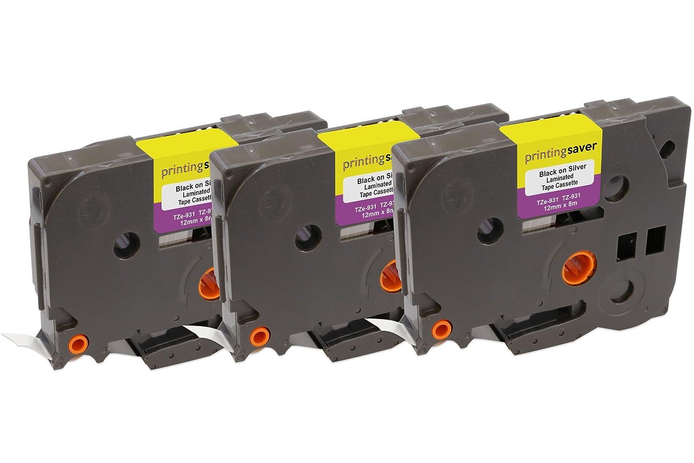 5x TZe231 TZe 231 Nero su Bianco 12mm x 8m Cassetta Nastro per Etichette compatibile per Brother P-Touch PT-1000 1005 1010 3600 D210 D210VP D400 D450VP D600VP H101C H101GB H105 H110 H300 P700 P750W