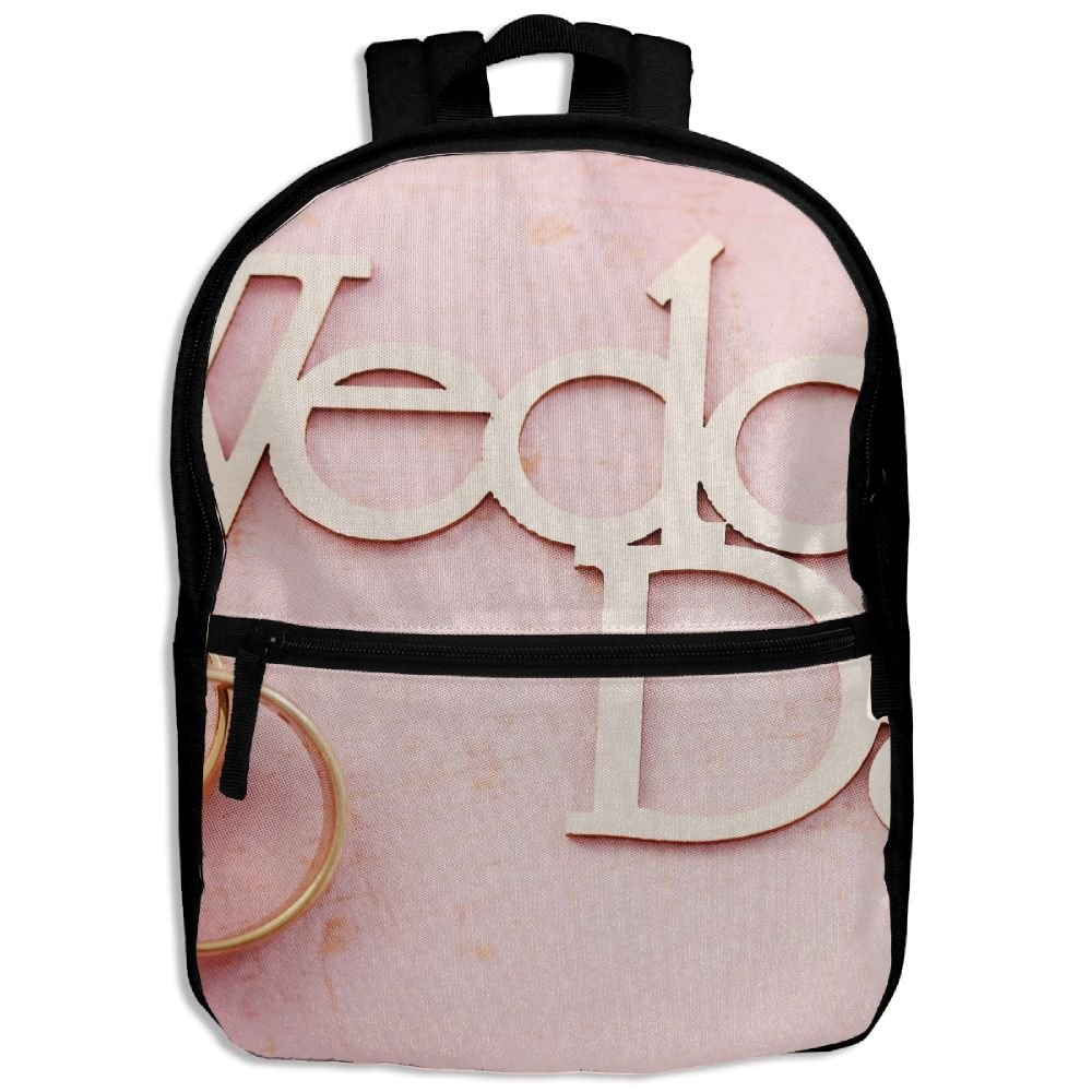 Flowers Wedding Day Ring Kids Backpack For Boys Girls Fit School Backpack