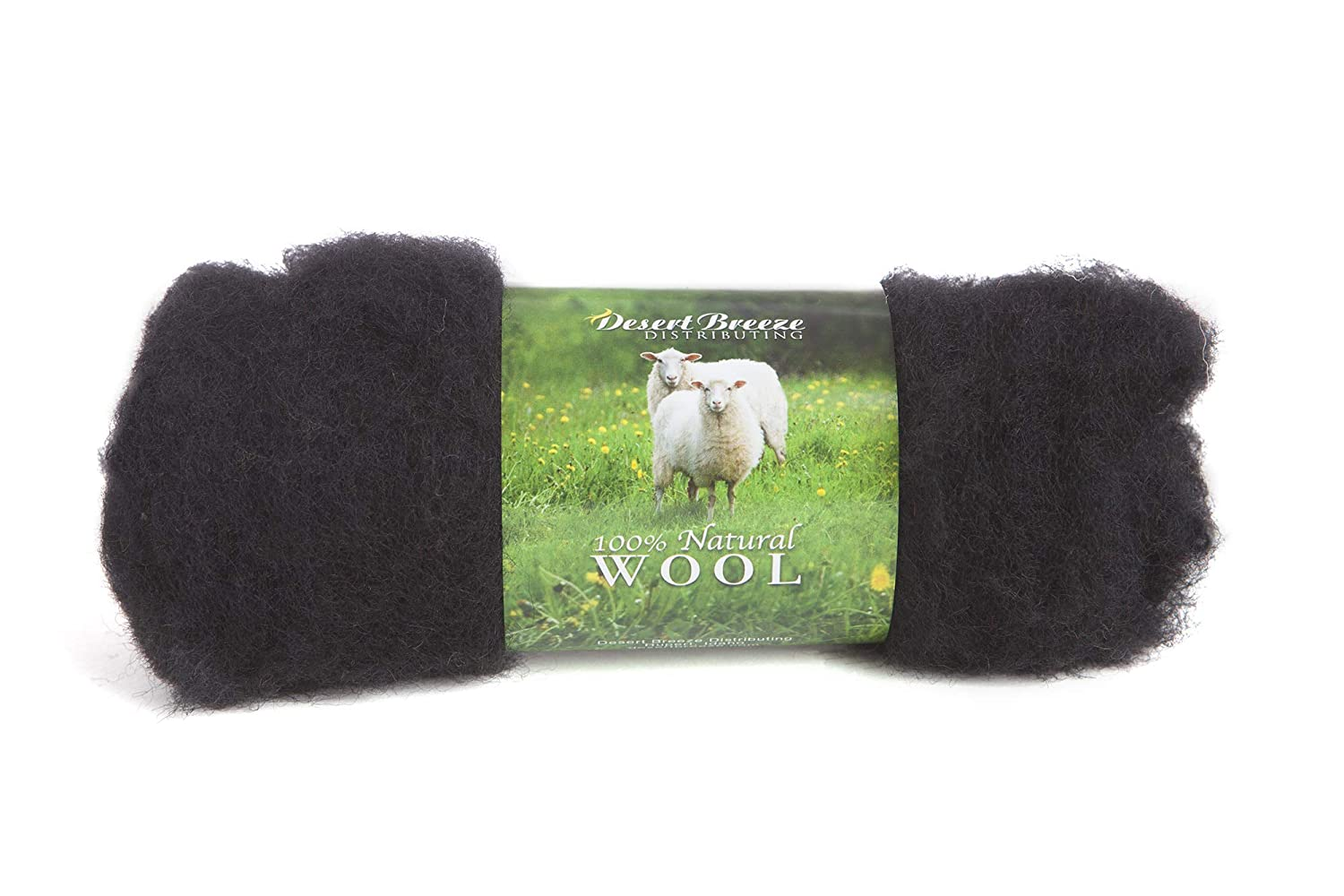 100/% Pure Wool Color Royal Blue 1 OZ Carded Wool Batt A Special Blend of New Zealand Wools by DHG for Needle Felting and Wet Felting Maori Wool