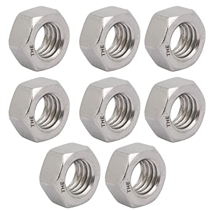 Amazon 1 2 12 BSW Thread Electroplated Hex Nut Fastener 8 Pcs Home Improvement