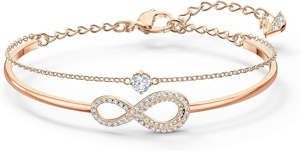 Amazon.com: SWAROVSKI Women's Infinity Knot Rose-gold Finish ...