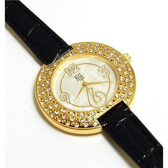 YESS F48363 Black – Reloj de pulsera, correa de plástico color negro