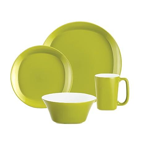 Amazon.com: Rachael Ray Dinnerware Round and Square 4-Piece ...