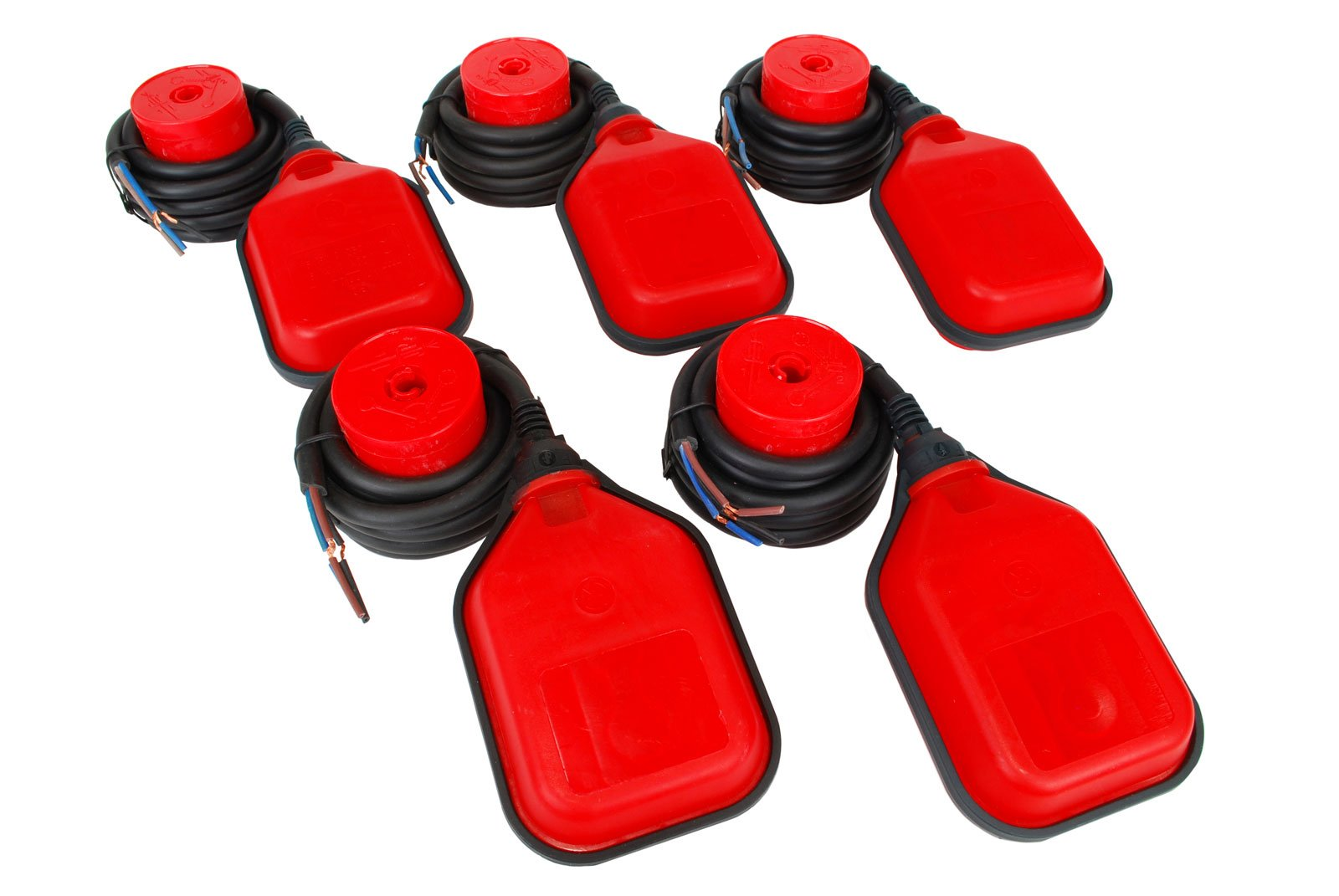 TEMCo 5 QTY Float Switch Liquid or Water Level Sensor Sump Fluidtank 5 YEAR WARRANTY