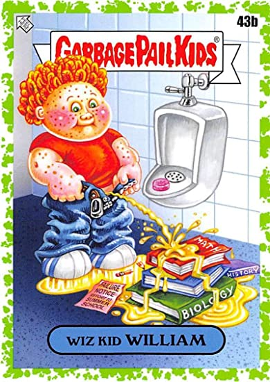 Amazon.com: 2020 Topps Garbage Pail Kids Late to School Booger Green #43B  WIZ KID WILLIAM Official Nonsport Standard Sized Trading Card in Raw (NM or  Better) Condition.: Entertainment Collectibles