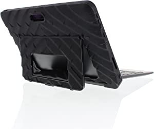 Gumdrop Hideaway Case with Stand Designed for Dell Venue 10 Pro 5055 Tablet for K-12 Students, Teachers, Kids - Black, Rugged, Shock Absorbing, Extreme Drop Protection