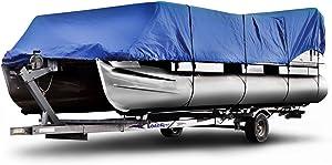 "Budge P-600-1 600 Denier Pontoon Cover Blue 17' - 20' Long (Beam Width Up to 104"") Waterproof, UV Resistant"