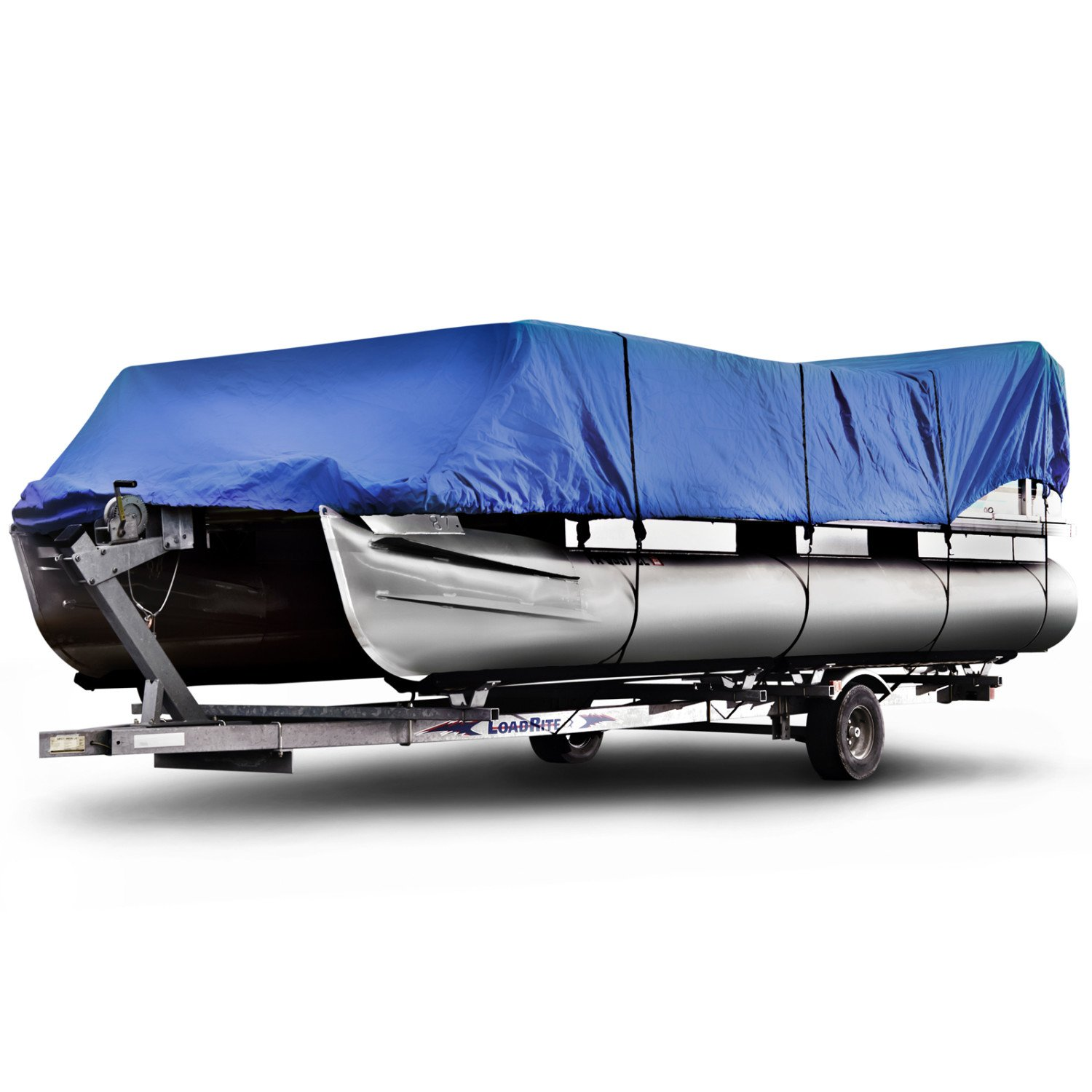 Budge 600 Denier Pontoon Covers Fits Pontoon Boats 20' to 24' Long, Blue by Budge