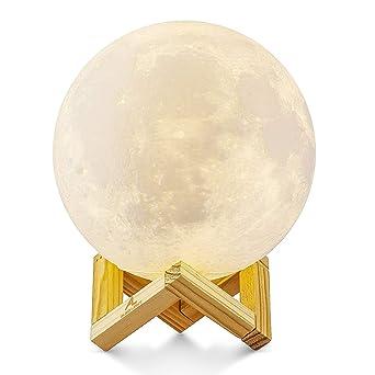 15cm Mond Lampe Nachtlampe 3D Mond Lampe Mondlicht ALED LIGHT 5.9 Zoll  Durchmesser Mond