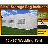 10' x 30' Party Wedding Tent Gazebo Pavilion Catering Shelter White