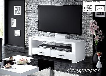 Fernsehtisch H 555 Weiß Hochglanz Tv Schrank Tv Möbel Tv Rack Lcd