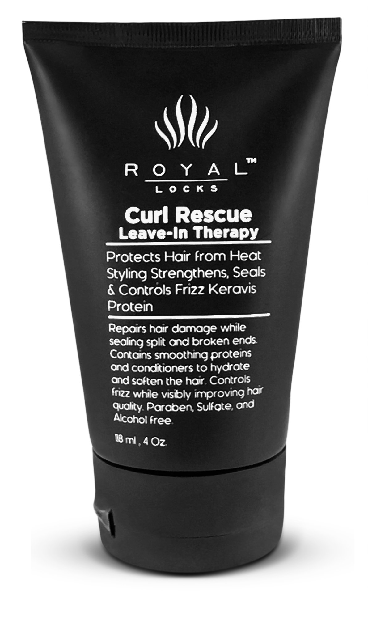 Curl Rescue Leave in Conditioner for Curly Hair Therapy with Keravis Ultra Conditioning Formula for Curls by Royal Locks