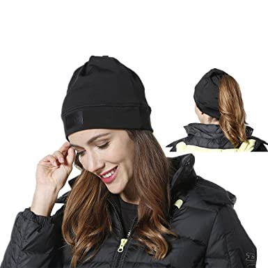 f4aae38447d Aegend Beanie Ponytail Hat Winter Slouchy Beanies For Men Women Youth
