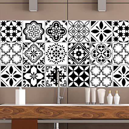 Amazon A Kitchen Tile Stickers Backsplash Protection Self Cool Adhesive Decorative Wall Tile