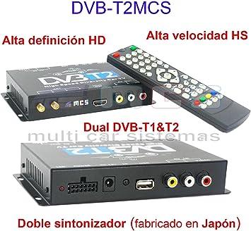 SODIAL DVB-T HD SD Multi-Canal Movil Coche Digital TV Caja Mini TV Sintonizador Analogico Alta Velocidad 240 km/h Receptor de Senal Fuerte para Monitor del Coche: Amazon.es: Electrónica