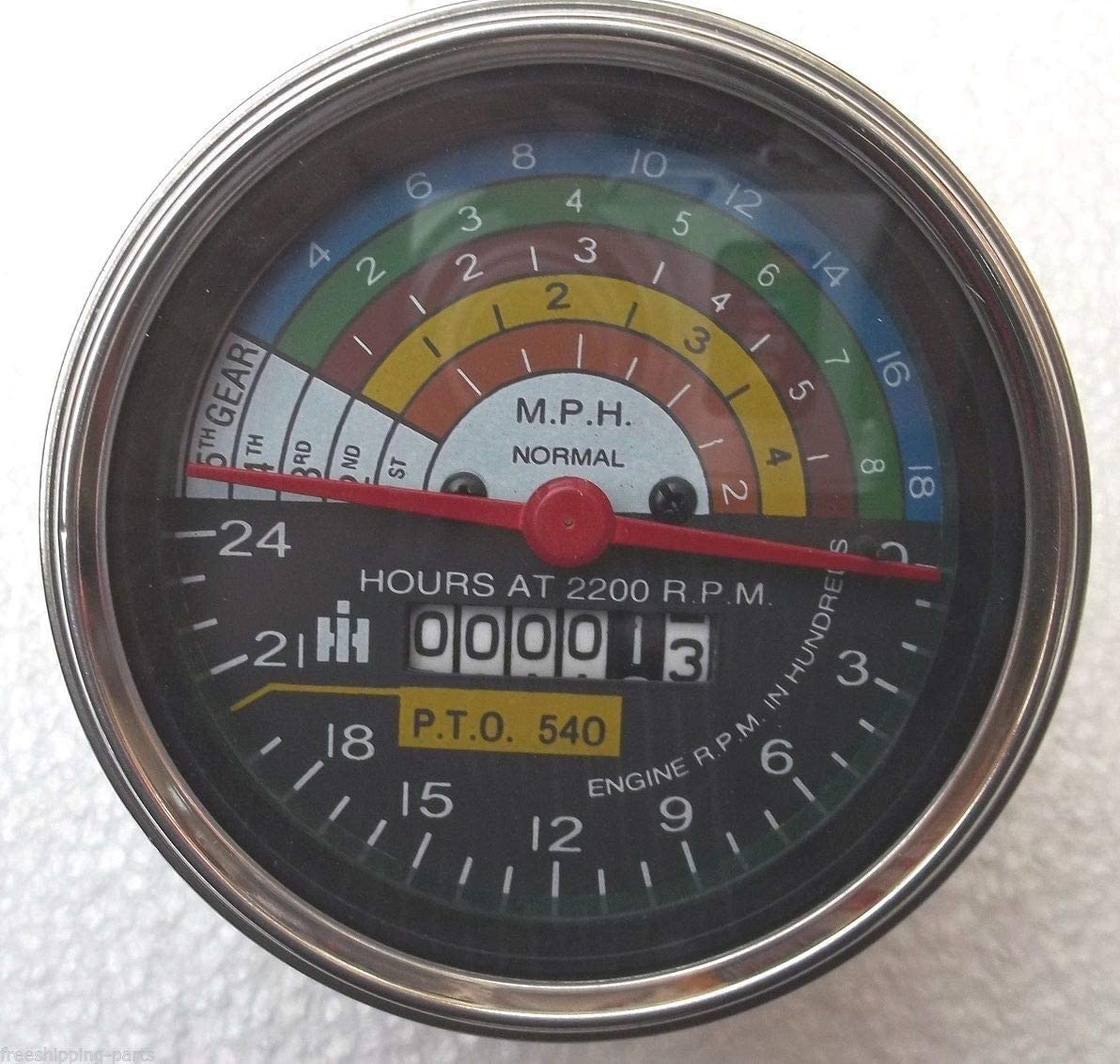 Farmall  504 Tractor Replacement Tachometer  fits IH Tachometer