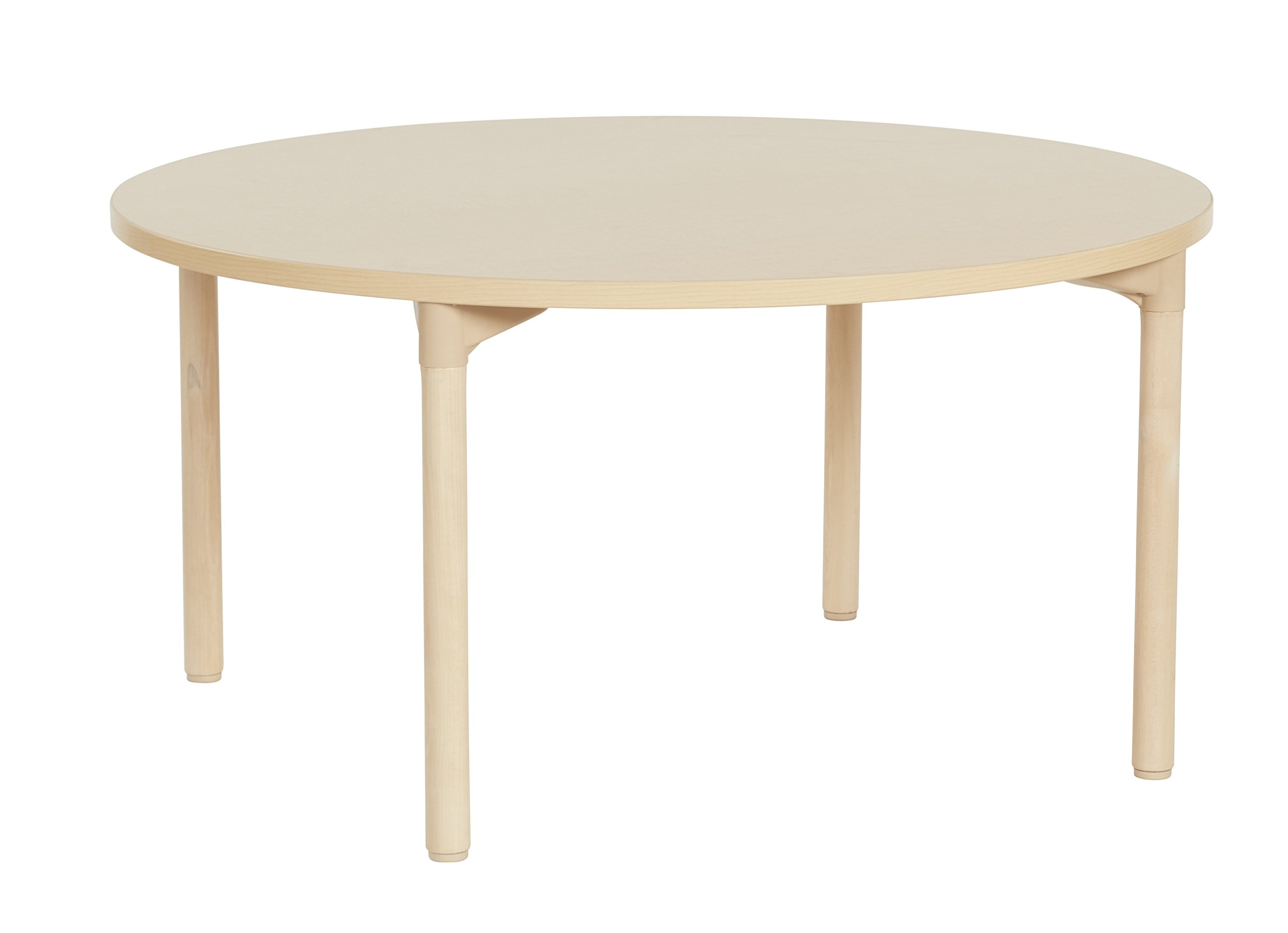 ECR4Kids 48'' Round Maple All-Purpose School Activity Table with Thermo-Fused Edge and Wood Legs (20'' Leg Height)