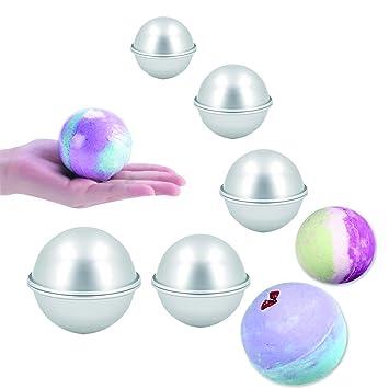 Juego de 5 moldes de metal para bombas de baño con 5 tamaños, 10 piezas para manualidades, 5 Size 10 Pcs: Amazon.es: Hogar