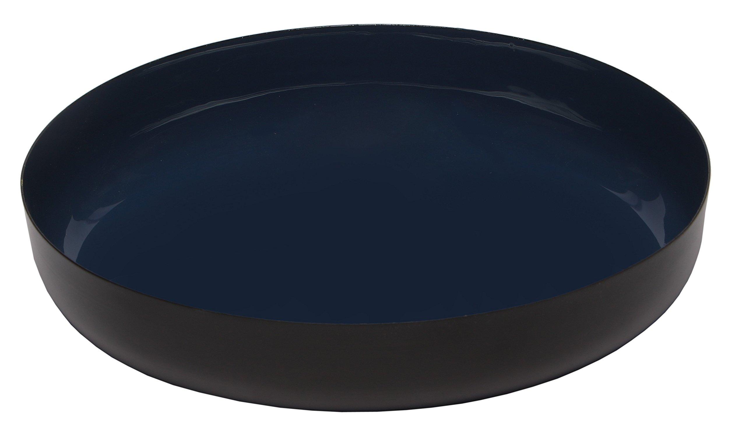 Melange Home Decor Modern Collection, 9-inch Round Platter, Color - Navy , Pack of 12