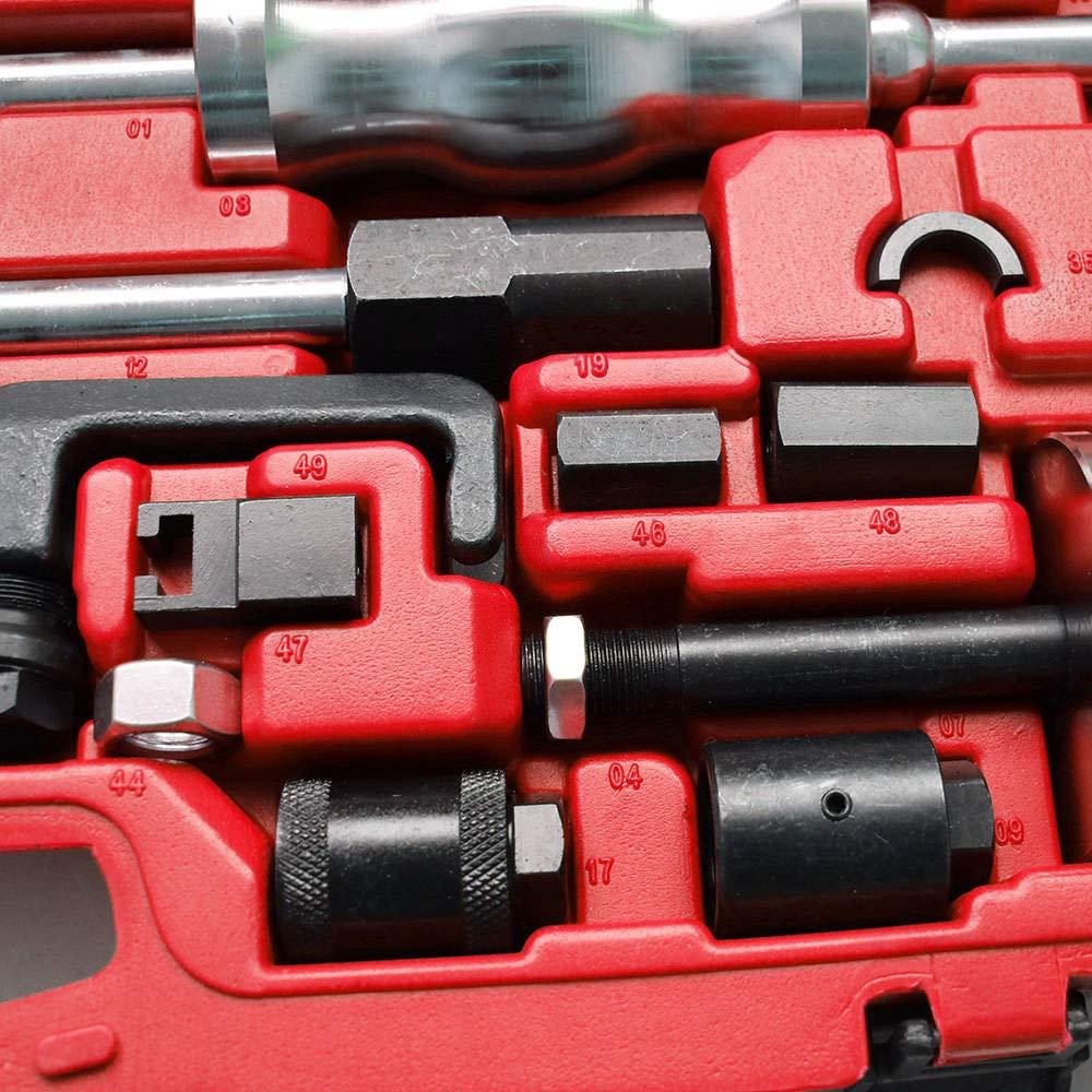 40/pezzi Oukaning estrattore per iniettori estrattore per iniettori diesel martello scorrevole adattatore Common Rail cofanetto per attrezzi