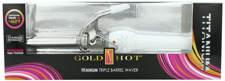 GOLD N HOT Titanium Triple Barrel Waver GO-GH3112