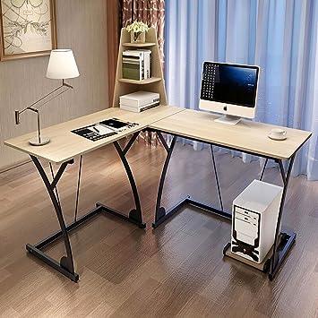 soges lshaped desk computer desk computer table workstation beige 812bn