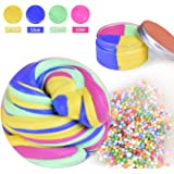 Magic Fluffy Slime LEEHUR Non-sticky Putty Mud Sludge Toys Stress Relief Toy for Kids Students Birthday Party 4 Colors
