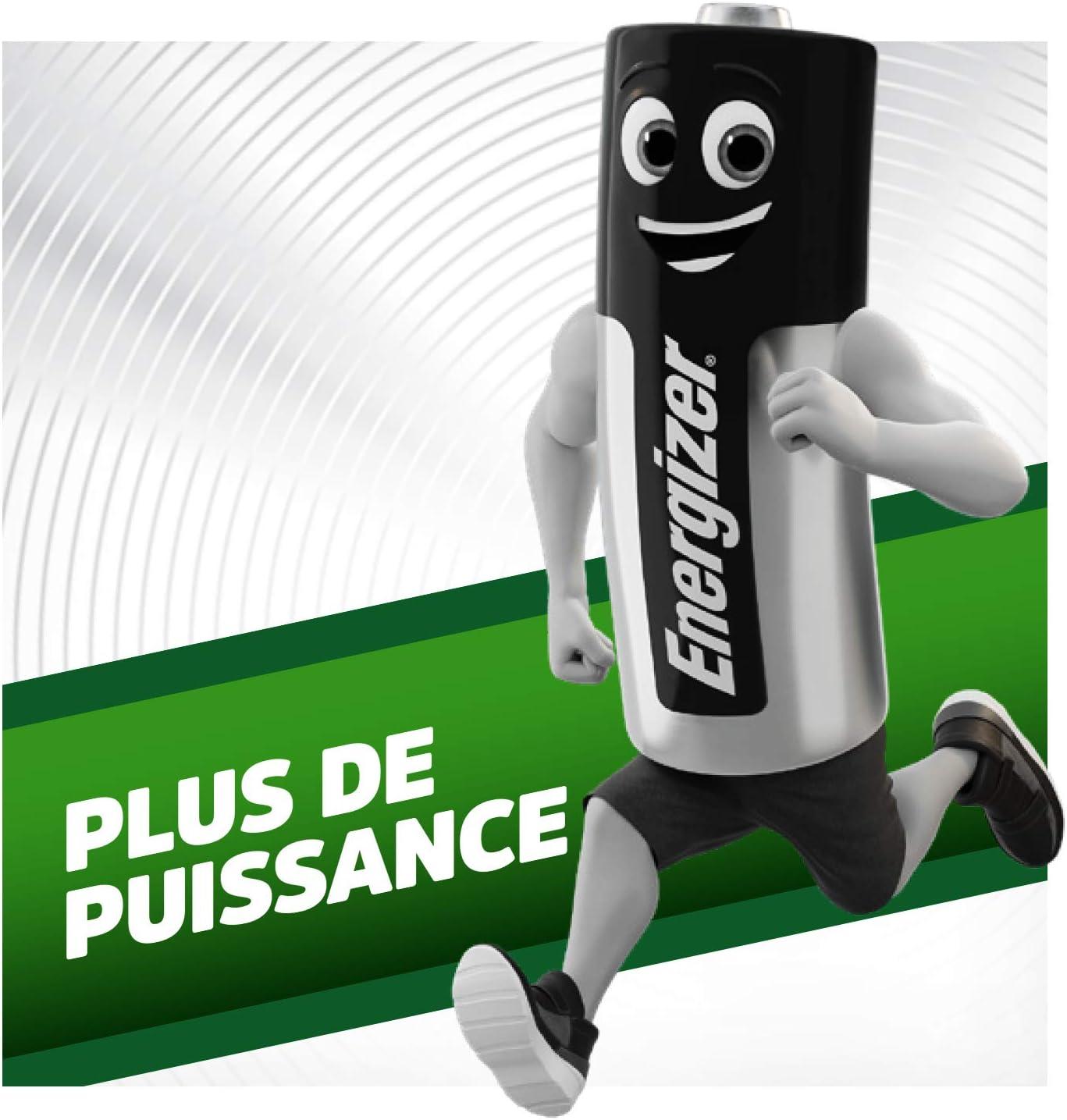 Recharge Power Plus Lot de 12 Energizer Piles Rechargeables AAA