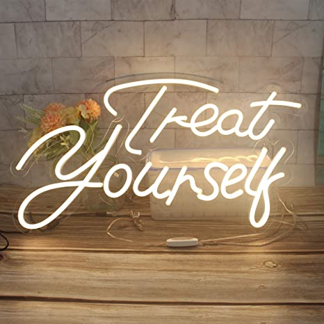 AOOS CUSTOM Treat Yourself Dimmable LED Neon Signs For Wall Decor