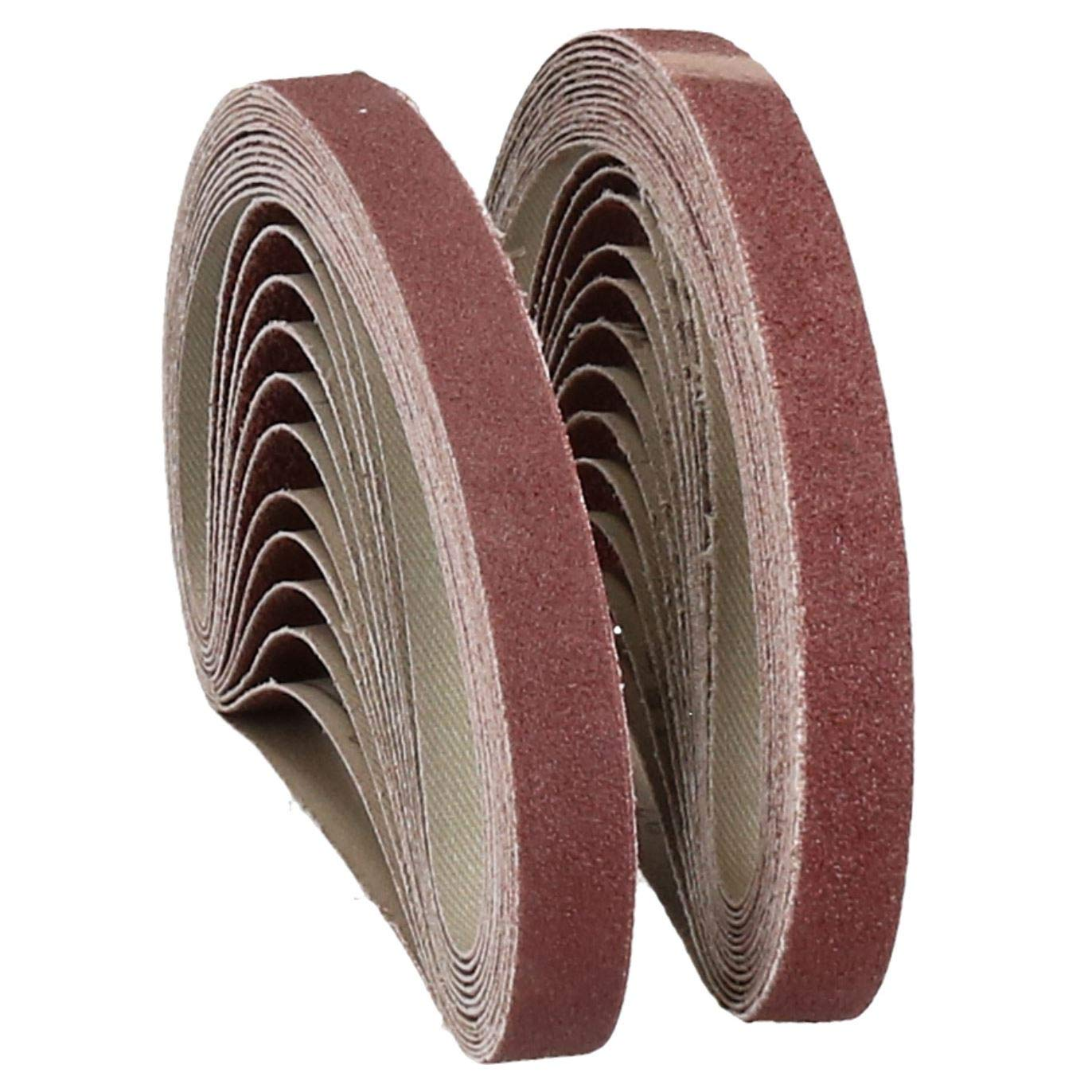 457mm x 13mm Mixed Grit Abrasive Sanding Belts Power File Sander Belt 25 Pack