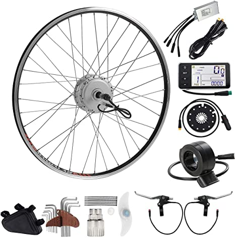 SEASON 36V 350W 28 Rear Wheel Electric Bicycle Motor Conversion Kit for E- Bike Cycling Hub Motor Freewheel: Amazon.es: Deportes y aire libre