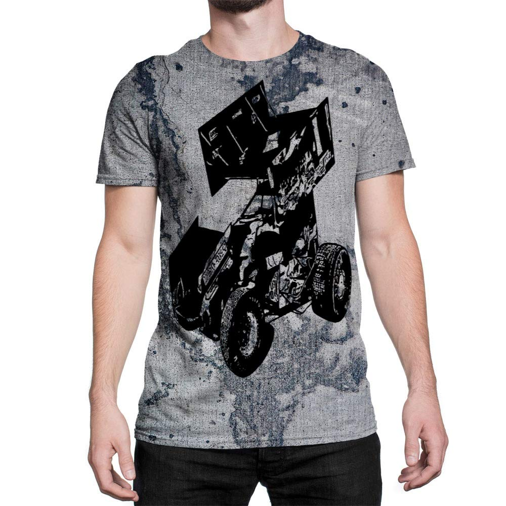 Amazon Idakoos Sport Sprint Car Racing 3d Men T Shirt