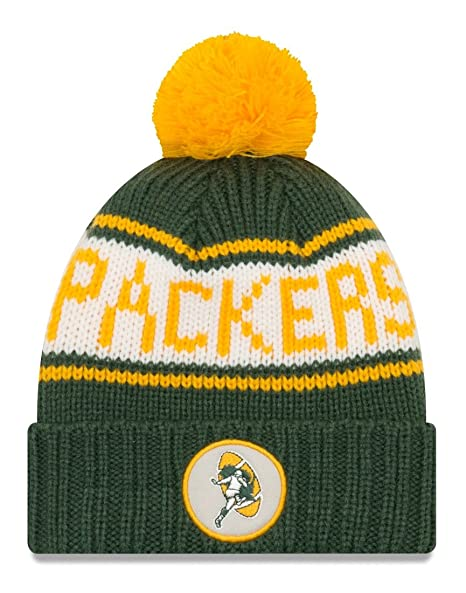 176153ada48 Image Unavailable. Image not available for. Color  New Era Green Bay Packers  NFL 9Twenty Historic Retro Patch Cuffed Knit Hat