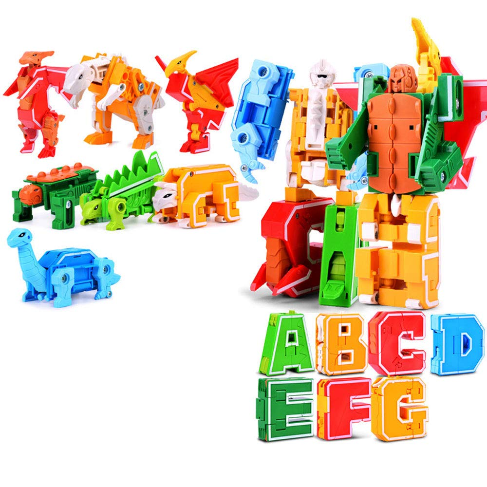 Jian E -// Digital Deformation Robot Early Education Puzzle Baby Toy Transformers Boy Intellectual Development Assembling Blocks 3-6-8 Years Old Baby Birthday Gift /-/ (Color : C)