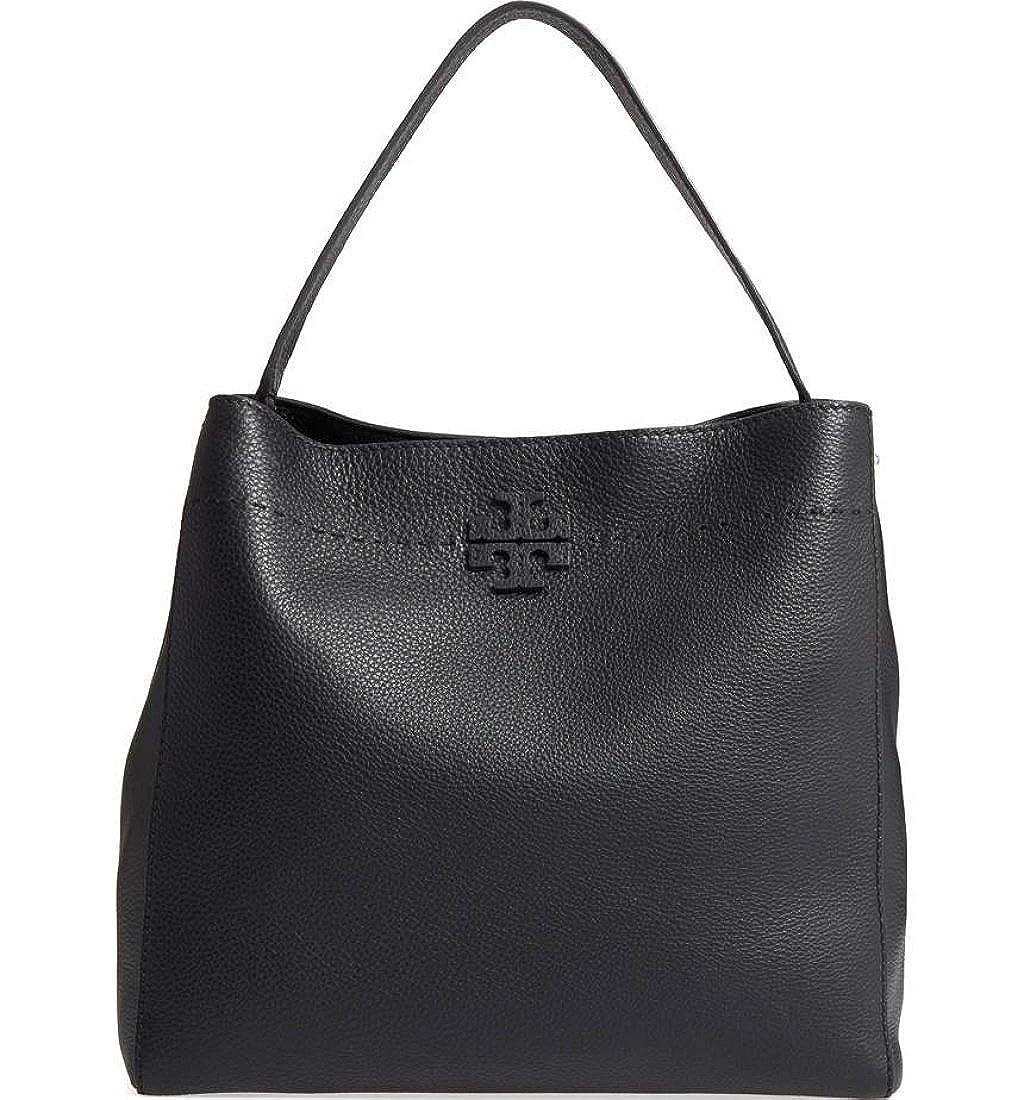 (トリー バーチ) TORY BURCH Women`sMcGraw Leather Hobo Bag レディースマクグローレザーホーボーバッグ(並行輸入品) B07C21F9CN ブラック One Size