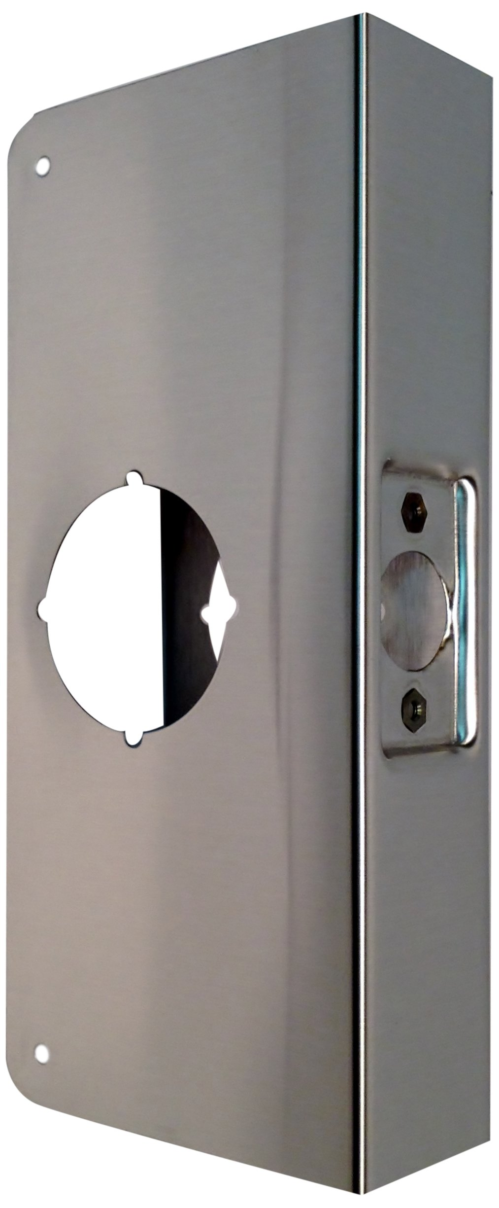 Don-Jo 2-CW 22 Gauge Stainless Steel Wrap-Around Plate, Satin Stainless Steel Finish, 4'' Width x 9'' Height, For Cylindrical Door Locks (Pack of 10) by Don-Jo (Image #1)