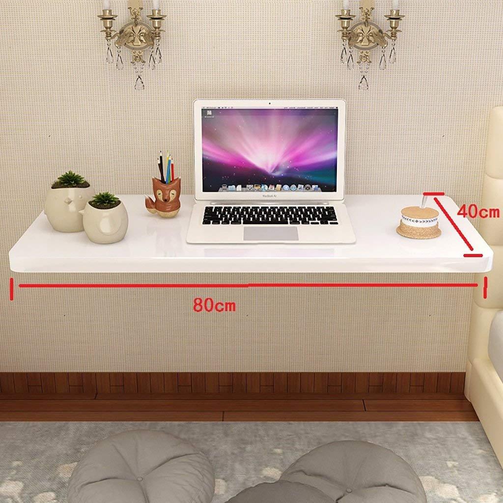 muchas concesiones 8040cm Wghz Escritorio de Aprendizaje de Mesa Mesa Mesa de Cocina montado en la Parojo de Cocina de Piano, Mesa Plegable de Metal, Stent, blancoo (tamaño  90  40 cm)  tienda de bajo costo