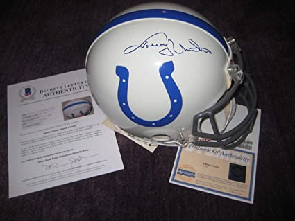 26fc7c7fb70 Image Unavailable. Image not available for. Color  Johnny Unitas  Autographed Signed ...