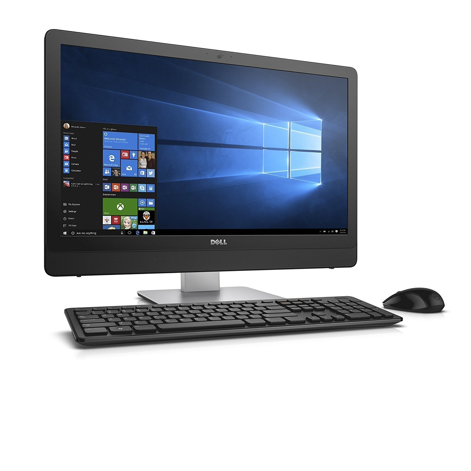 Dell Inspiron Flagship 23.8'' All-in-One Full HD Touchscreen Desktop - Intel Core i7-7500U up to 3.5GHz, 16GB DDR4, 1TB HDD, DVDRW, 802.11ac, Bluetooth, MaxxAudioR Pro, Webacm, Keyboard & Mouse, Win 10 by Dell (Image #3)
