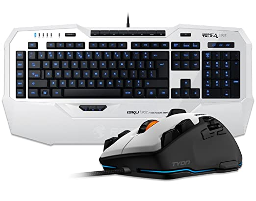 Teclado ROCCAT Isku FX Iluminado con el botón Tyon Multi ratón para Juegos - Blanco: Amazon.es: Informática