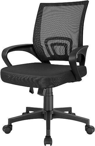 Furmax Mesh Computer Desk Swivel Ergonomic Lumbar Support Home Office Task Chair