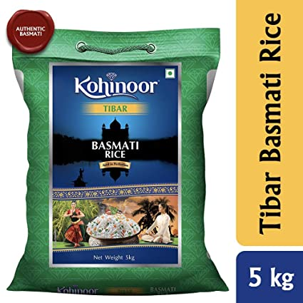 Kohinoor Tibar Authentic Basmati Rice, 5 Kg