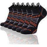 FLYRUN Mens Athletic Ankle Socks Performance Breathable Sports Running Sock(6 Pairs)
