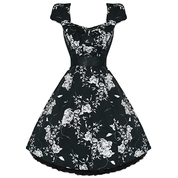 Para mujer reloj de mujer con protector de pantalla blanco y negro flores de 50S con