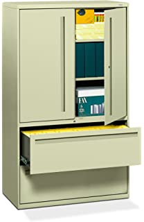 HON 2 Drawer With 3 Shelves Office Filing Cabinet   Brigade 700 Series Lateral  File