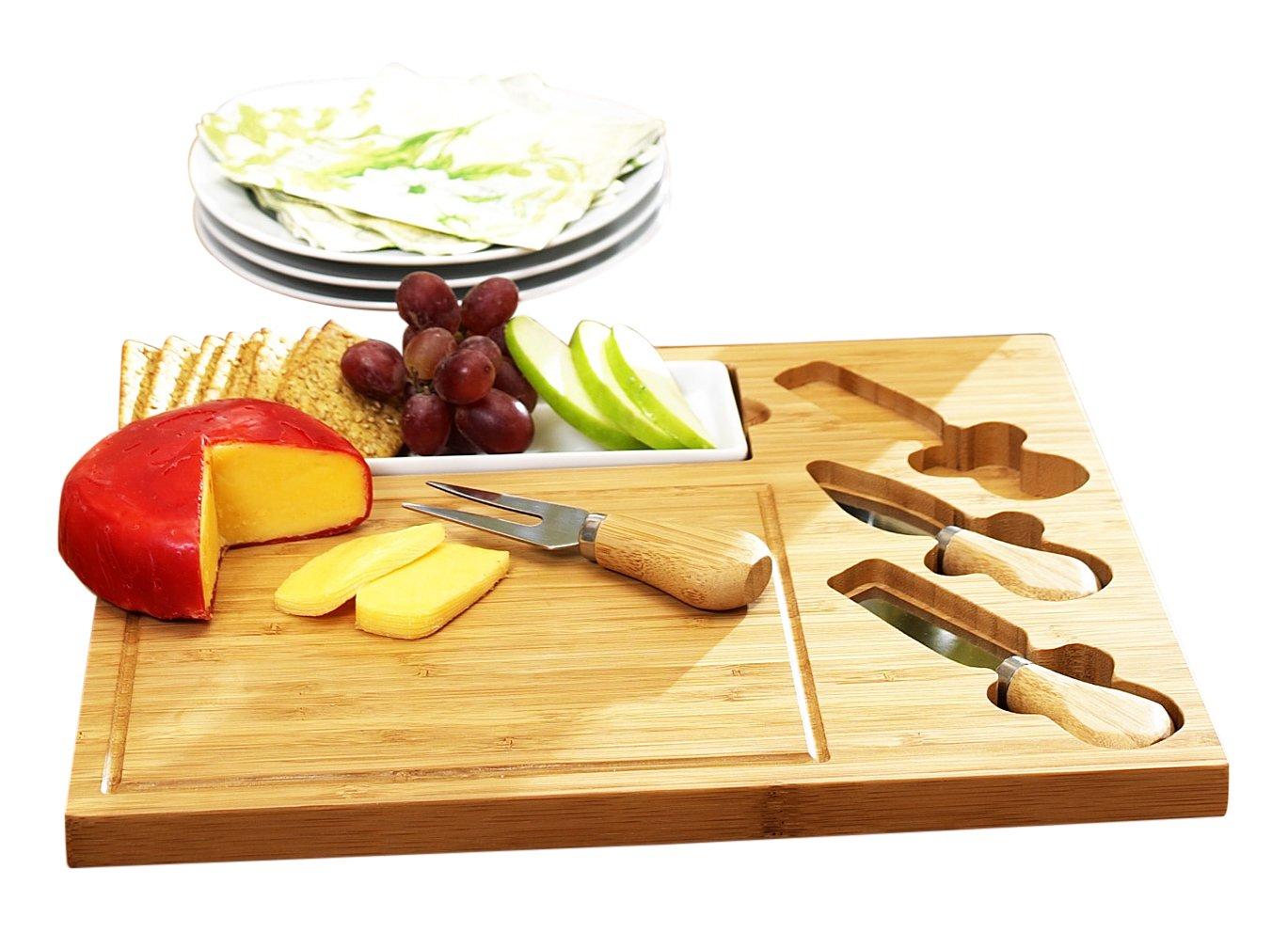 Picnic at Ascot Celtic Cheese Board Set, Ceramic Dish CB15