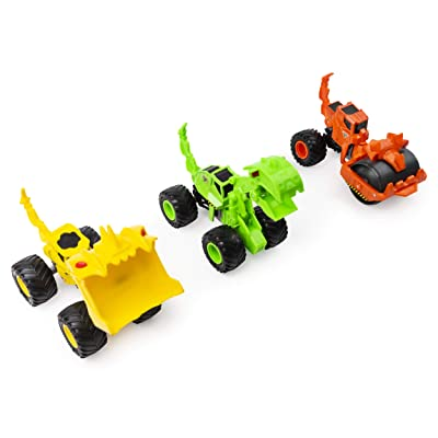 Monster Jam, Official Dirt Squad 3-Pack of Monster Trucks with Moving Parts, 1:64 Scale Die-Cast Vehicles: Toys & Games