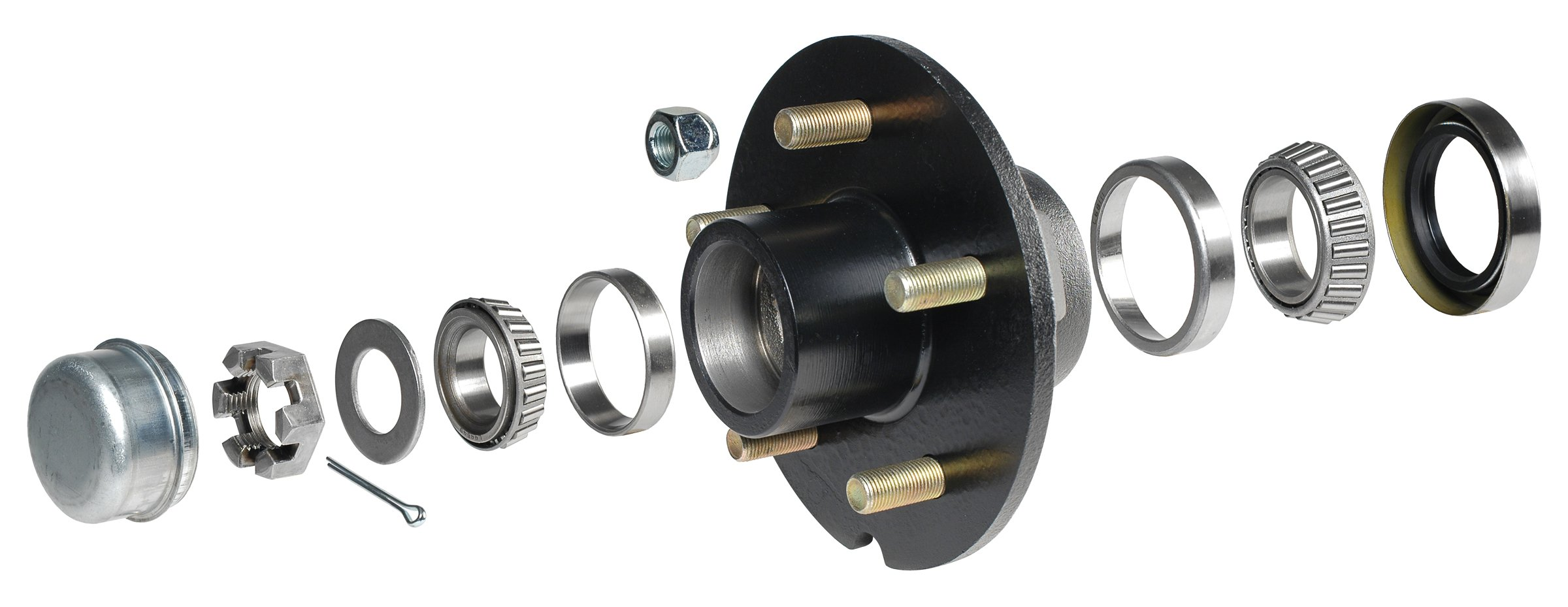 CE Smith Trailer 13511 Trailer Hub Kit with 5 x 4 1/2 Stud, Tapered 1 3/8'' to 1 1/16''- Replacement Parts and Accessories for Your Ski Boat, Fishing Boat or Sailboat Trailer