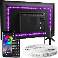 Enteenly Led-achtergrondverlichting van 3 m, geschikt voor 40-55 inch televisie en pc, bediening met app…